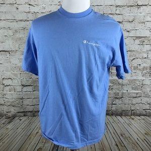 VTG Men's Champion Baby Blue T-Shirt Size M